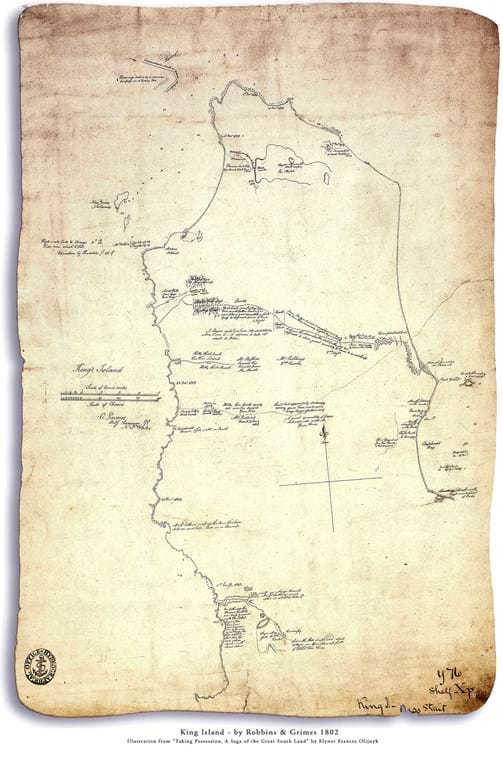 Chart of King Island by Grimes & Robbins -  Dec. 1802 - Jan. 1803